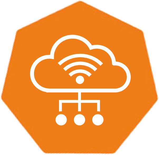 orange symbol for the Leitwert Device Hub