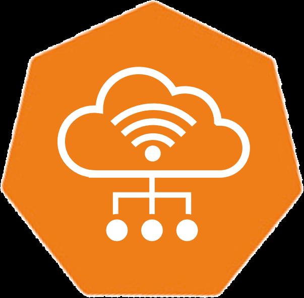 orange symbol for the Leitwert Device Hub