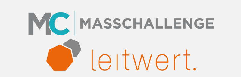 logos of Masschallenge and Leitwert
