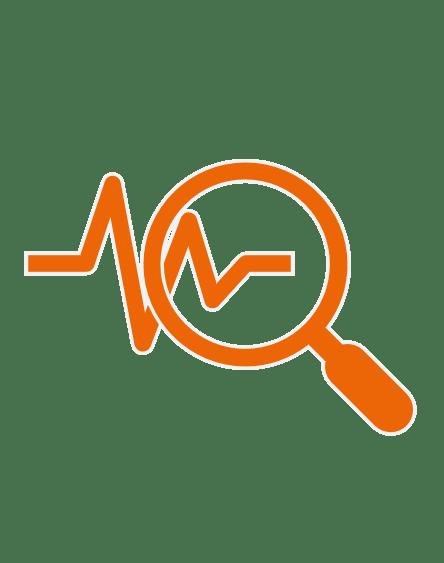 Leitwert data analytics symbol in orange