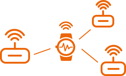 orange symbol for roaming